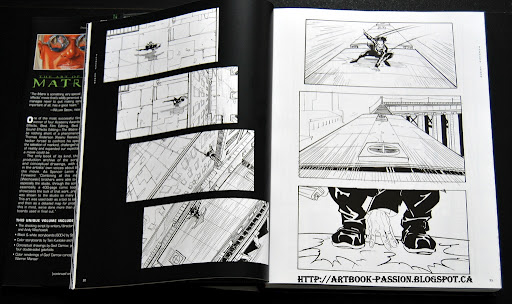 présentation artbook matrix noir blanc withe black story